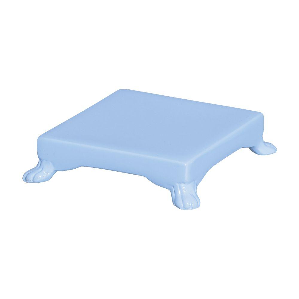 Base Quadrada Na Cor Azul Claro 5,5 x 20,5 cm