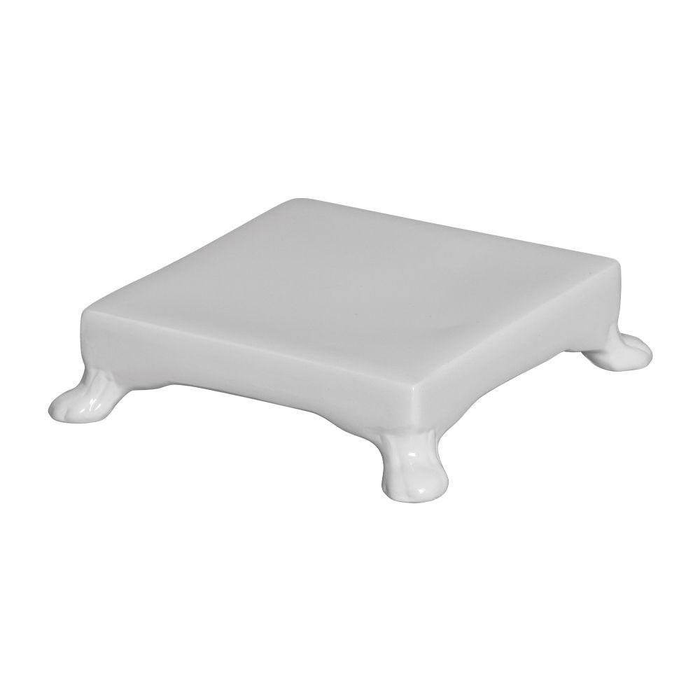 Base Quadrada Na Cor Branco 5,5 x 20,5 cm