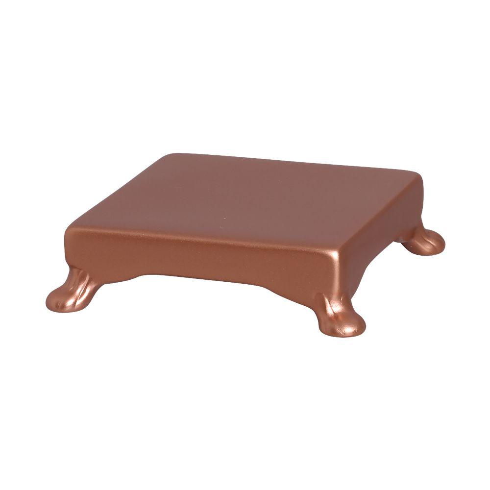 Base Quadrada Na Cor Bronze 5,5 x 20,5 cm