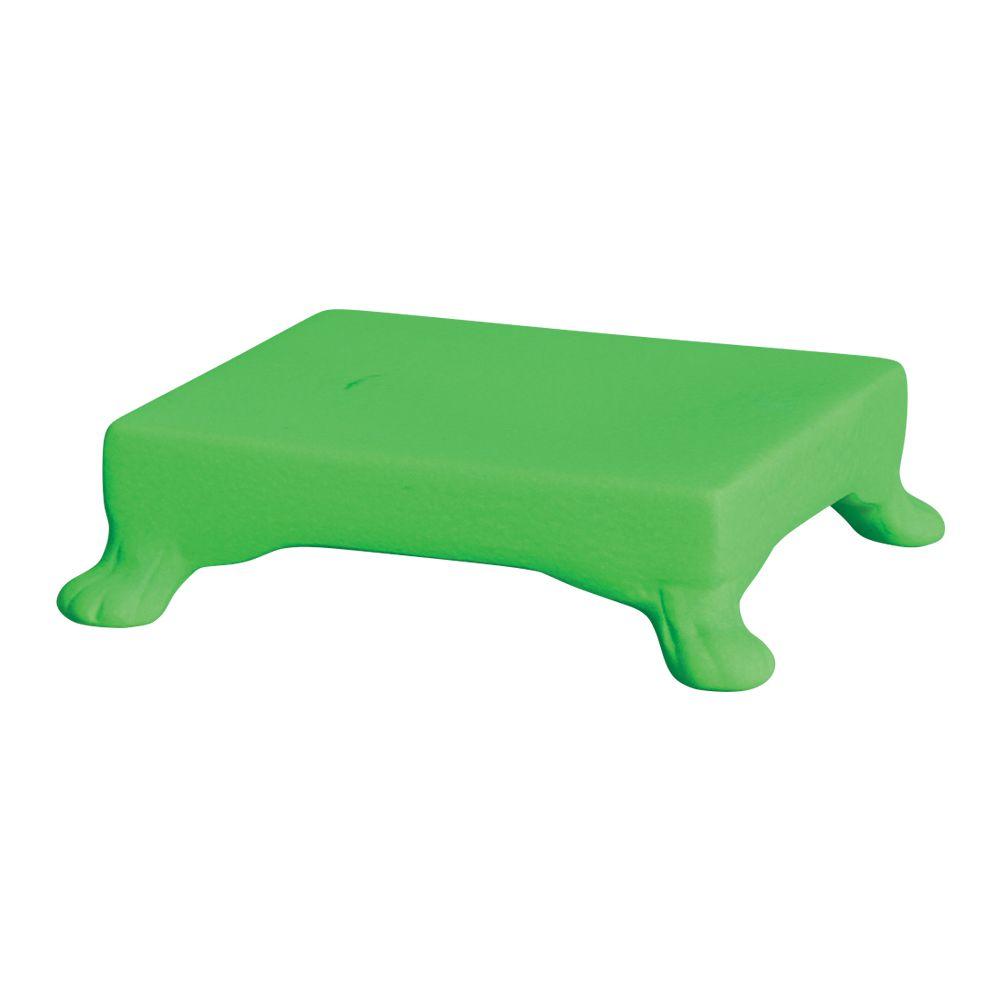 Base Quadrada Na Cor Verde Neon 5,5 x 20,5 cm