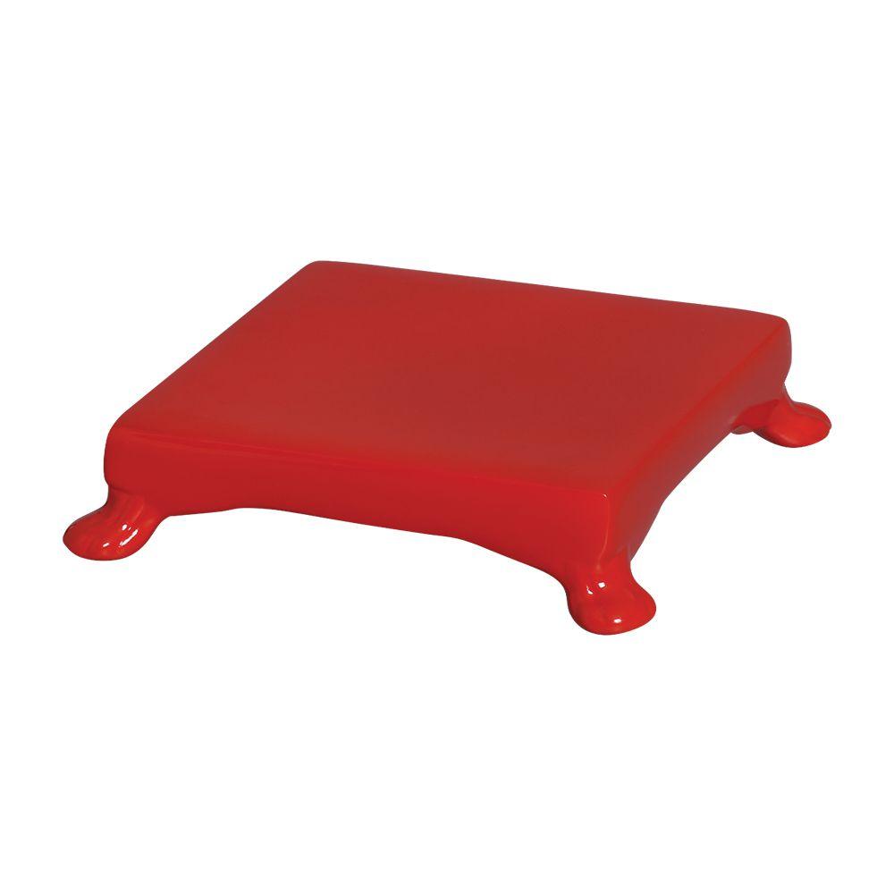 Base Quadrada Na Cor Vermelho 5,5 x 20,5 cm