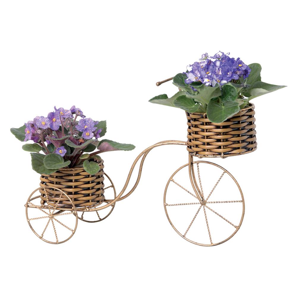 Bicicleta Decorativa em Ferro e Junco 31x44 cm