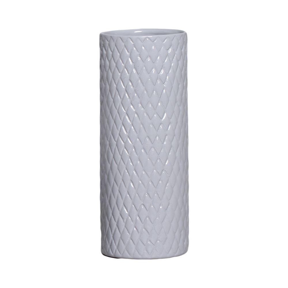 Cachepot de Cerâmica Cinza Claro 32,7 x 12,7 cm