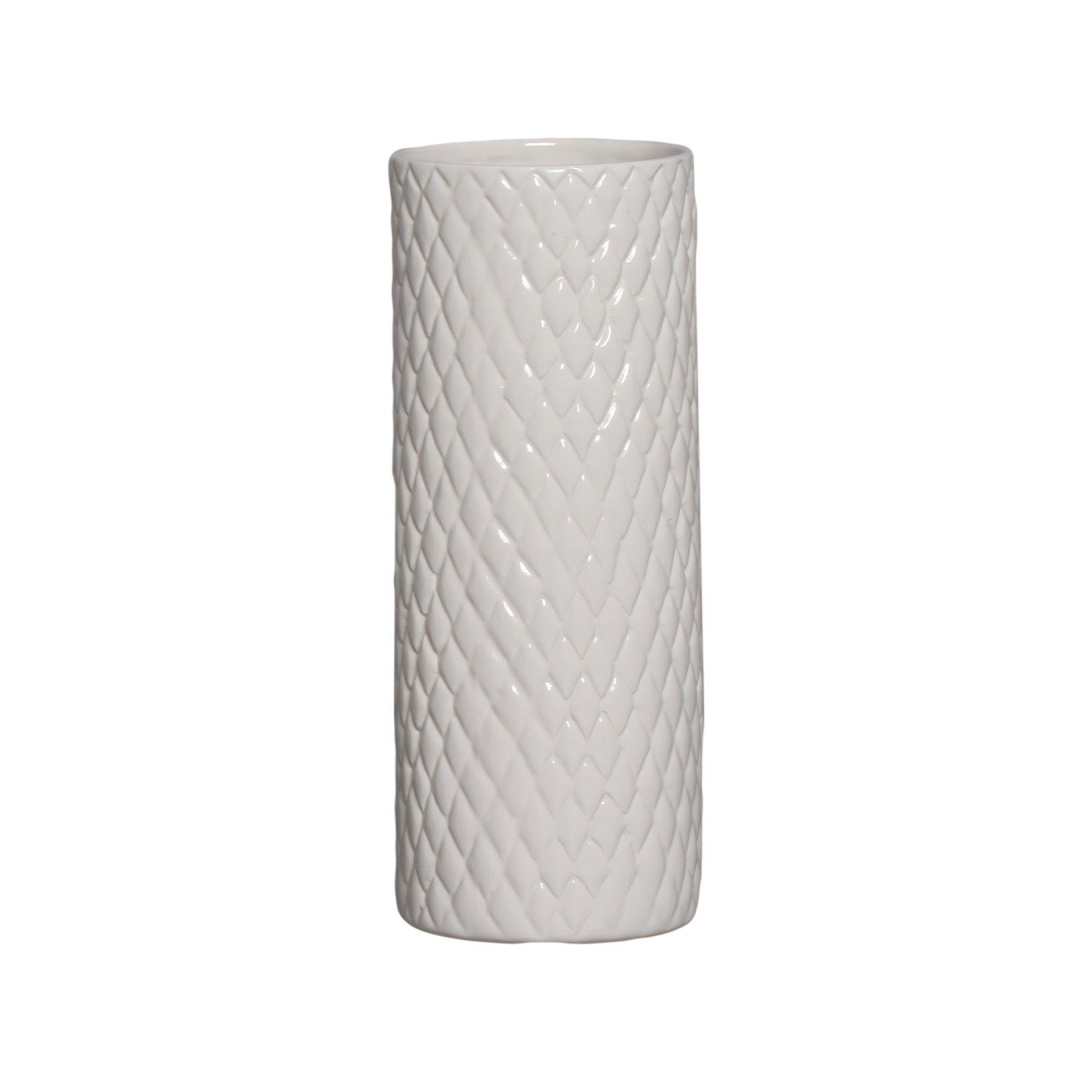 Cachepot de Cerâmica Crema Claro 32,7 x 12,7 cm