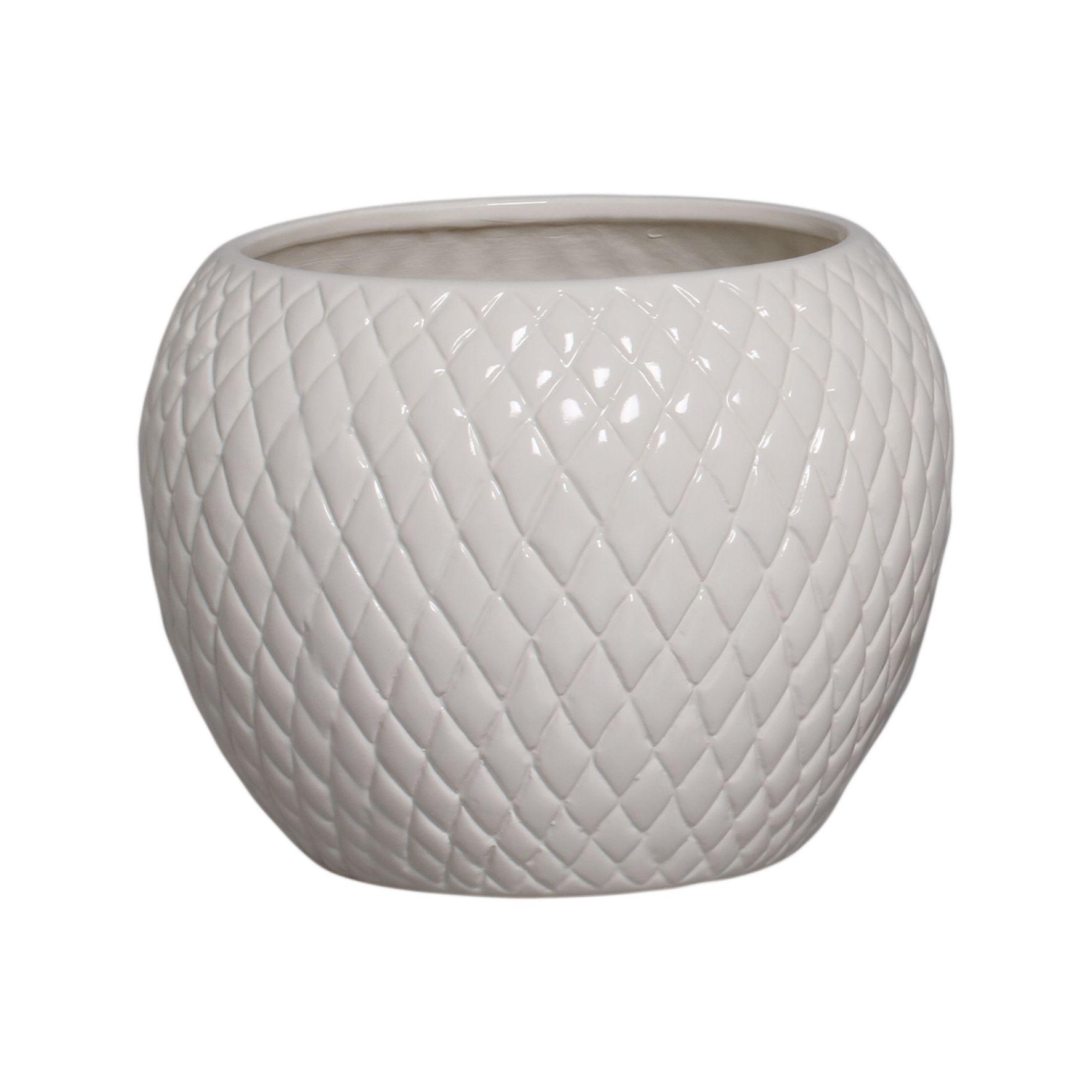 Cachepot de Cerâmica Crema Claro G 18,7x24,5 cm