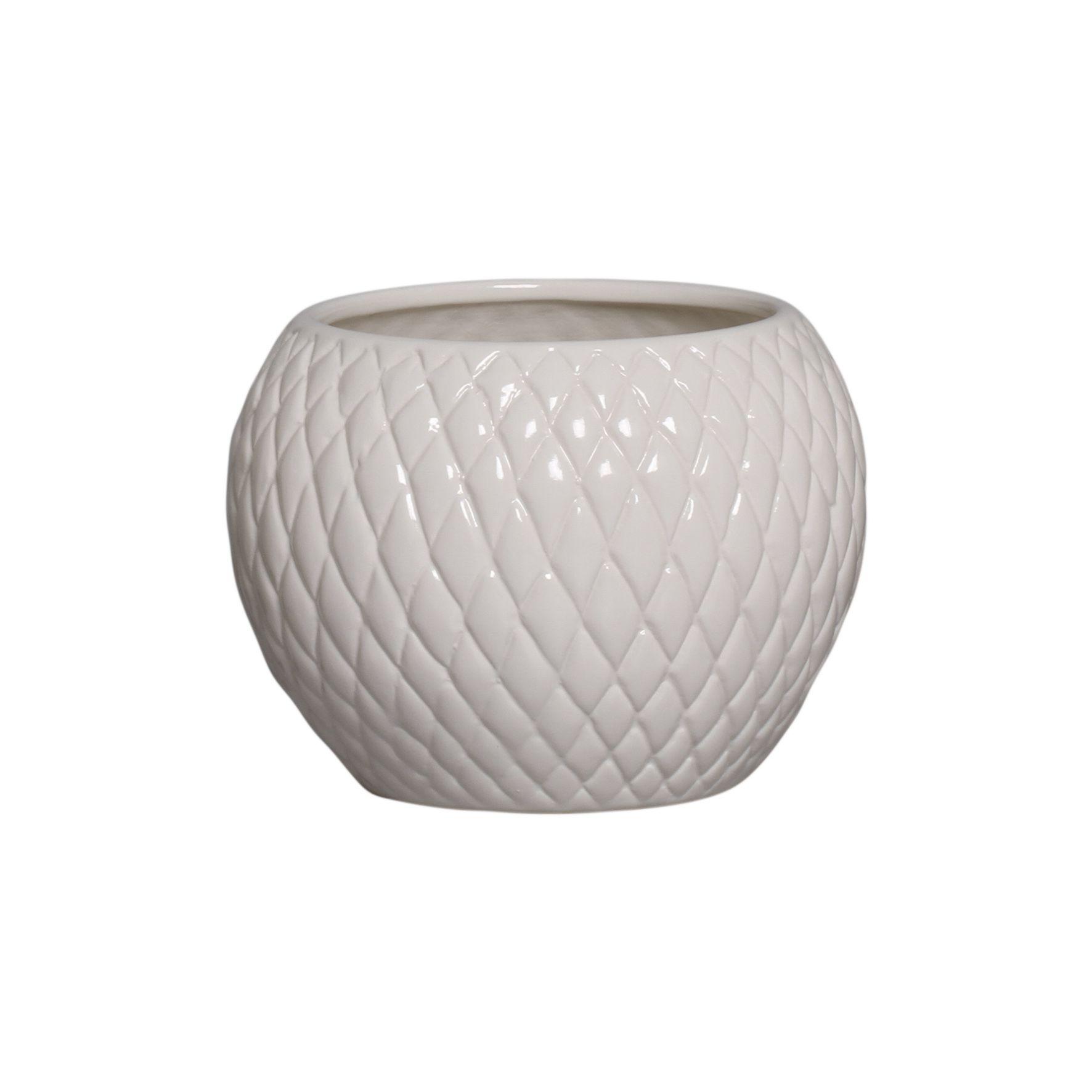 Cachepot de Cerâmica Crema Claro P 14,3x19,3 cm