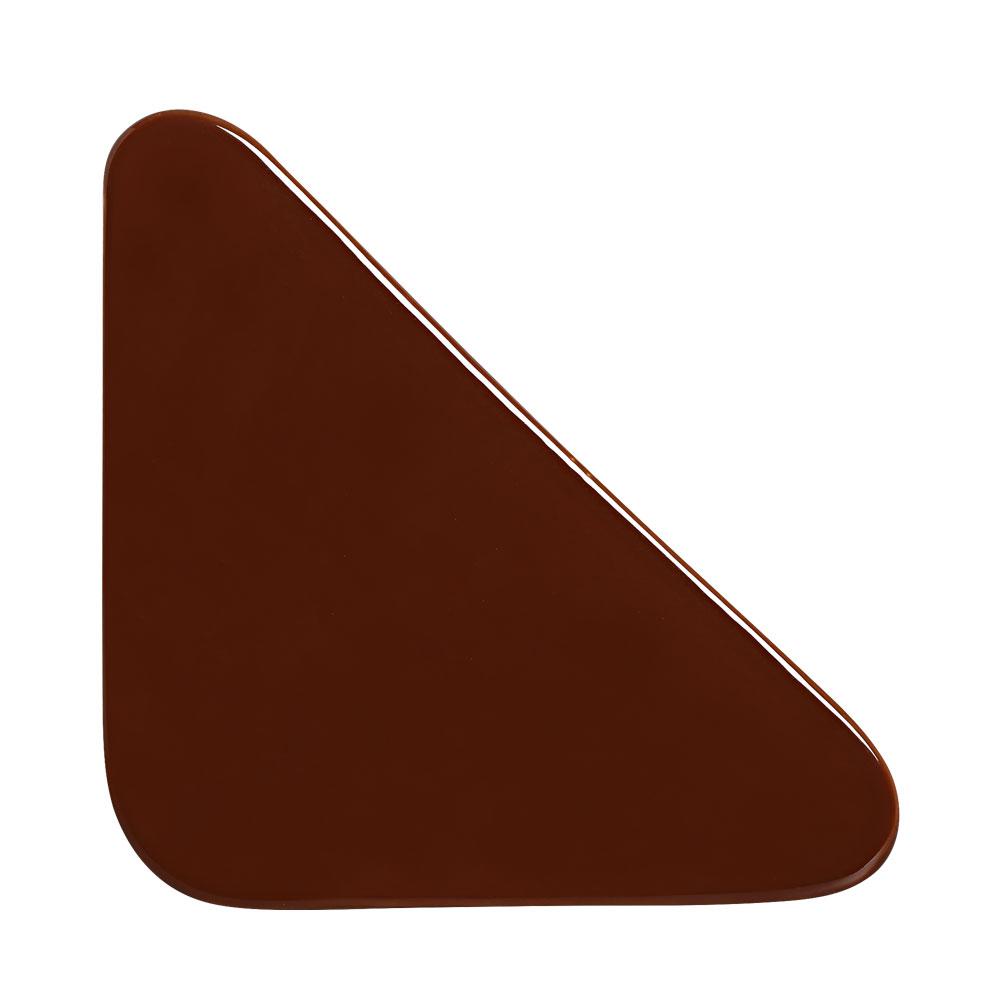 Cobogó Bauhaus Triângulo Marrom em Cerâmica Esmaltada 19,5x19,5x6,5 Cm