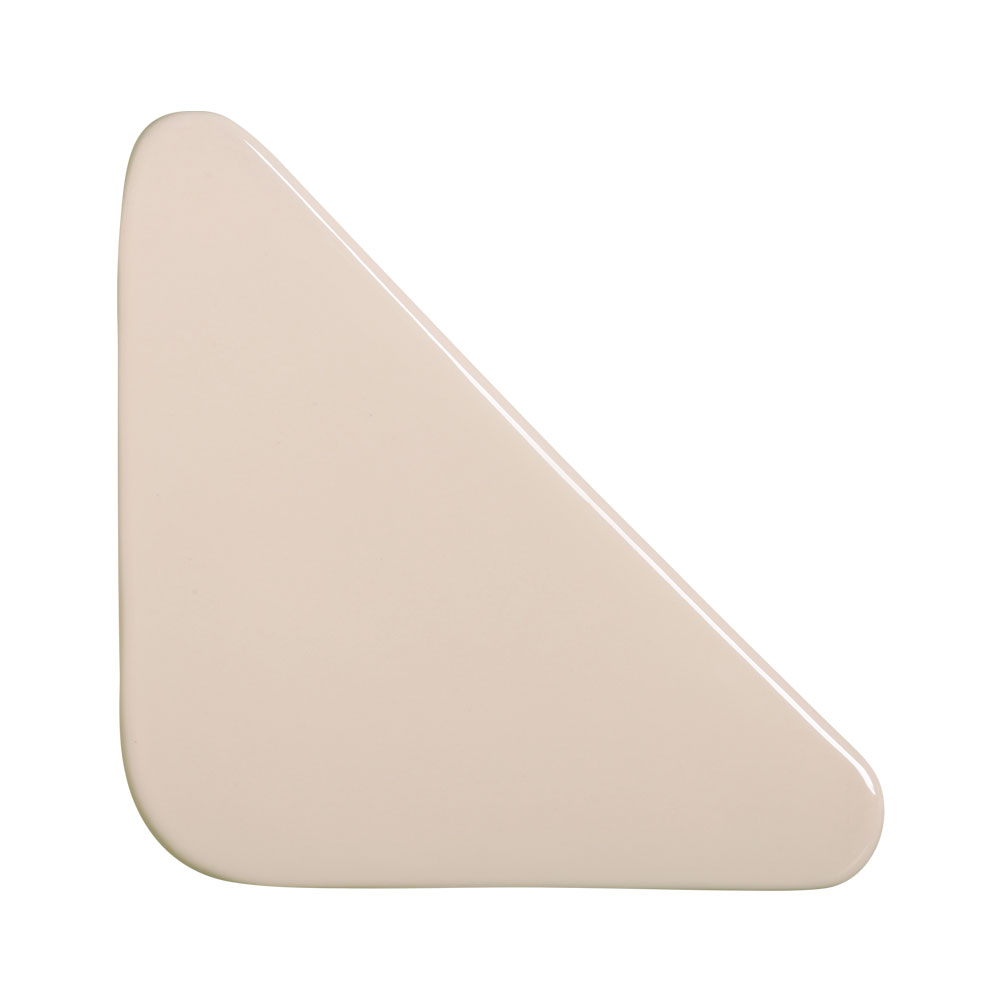 Cobogó Bauhaus Triângulo Nude em Cerâmica Esmaltada 19,5x19,5x6,5 Cm