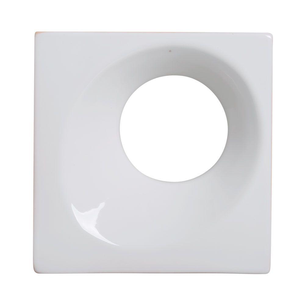 Cobogó de Cerâmica Branco Esmaltado Linha Orvalho G 19,5x19,5x8 Cm