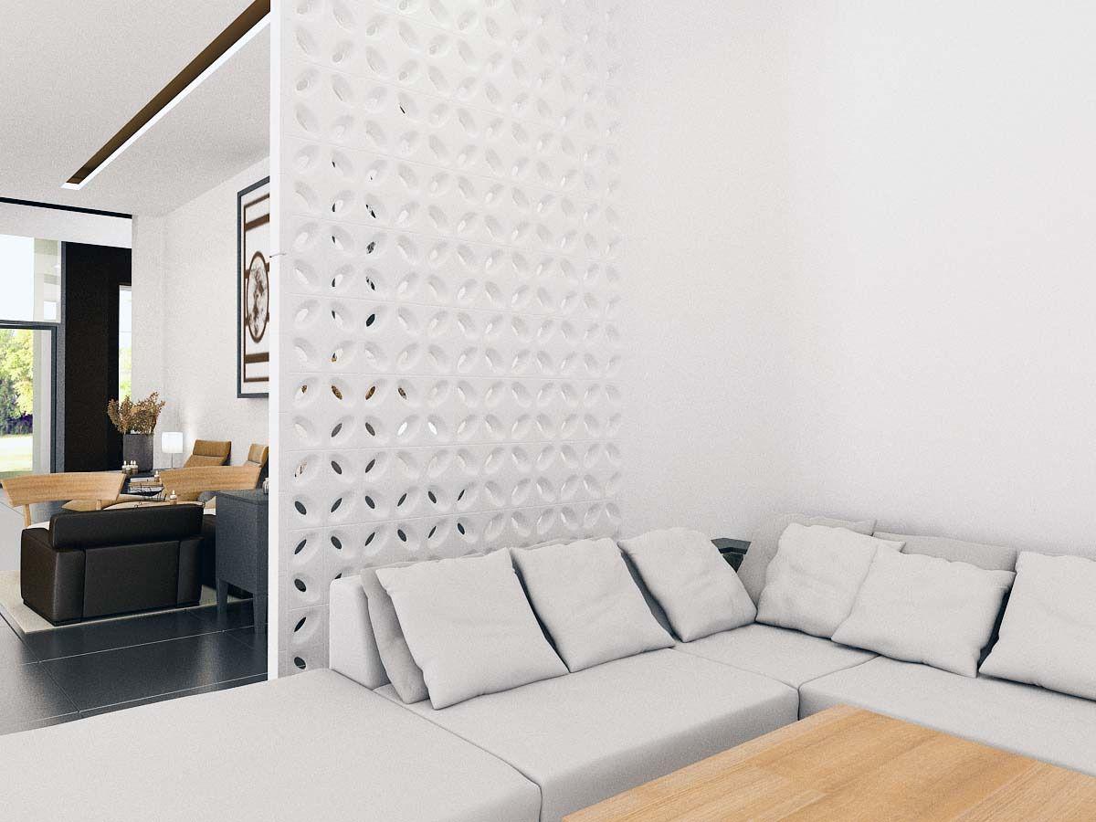 Cobogó de Cerâmica Branco Esmaltado Linha Pétala 19,5x19,5x8 Cm