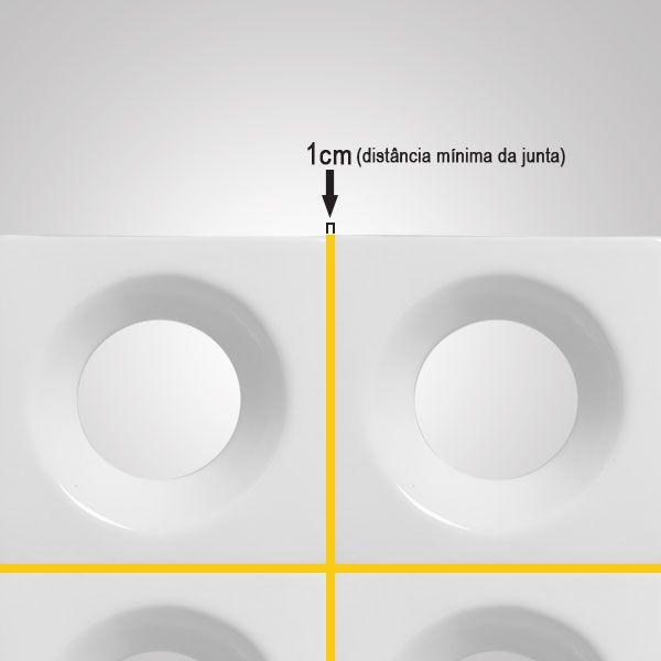 Cobogó de Cerâmica Branco Esmaltado Linha Rings  19,5x19,5x8 Cm