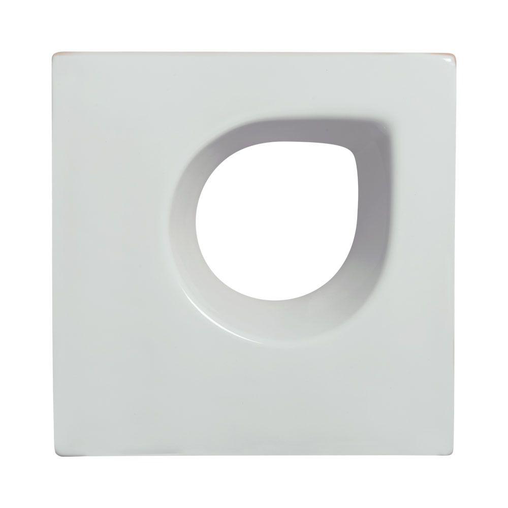 Cobogó de Cerâmica Branco Esmaltado Linha Trevo Aberto 19,5x20x8 Cm
