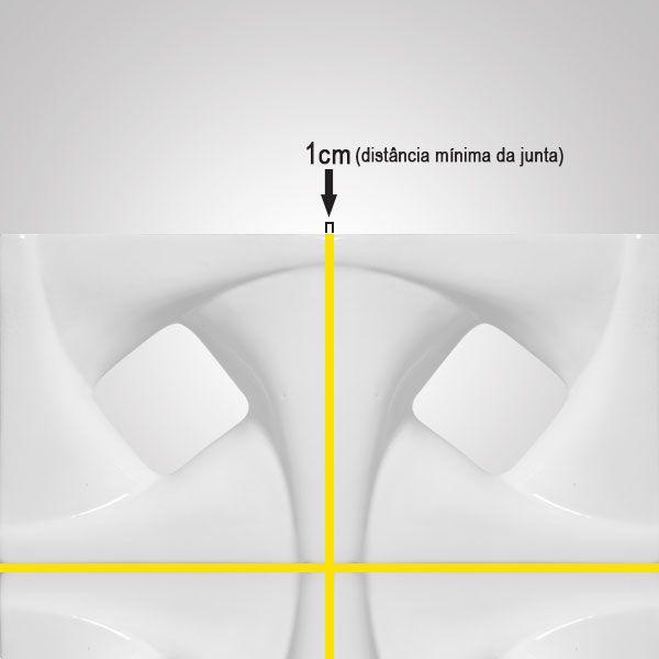 Cobogó de Cerâmica Branco Esmaltado Linha Twist 19,5x19,5x8 Cm