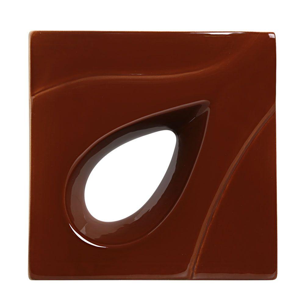 Cobogó de Cerâmica Cinza Esmaltado Linha Gota 19,5x19,5x8 Cm