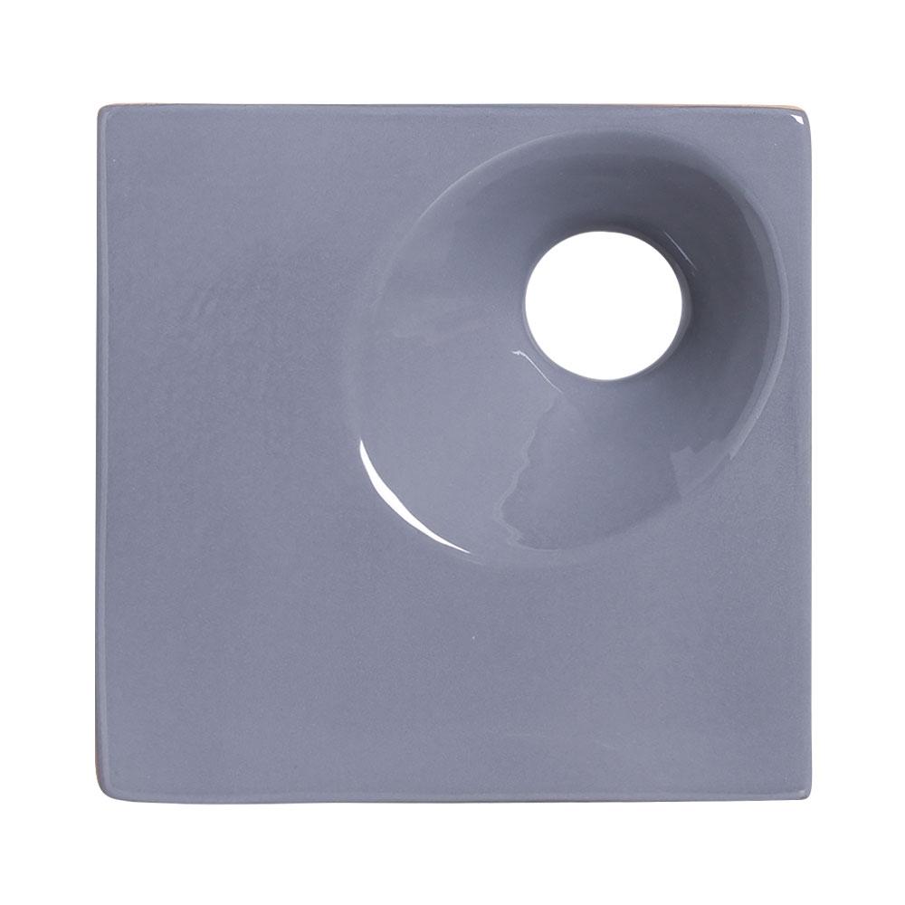 Cobogó de Cerâmica Cinza Esmaltado Linha Orvalho M 19,5x19,5x8 Cm