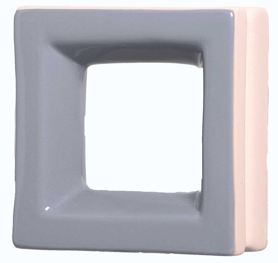 Cobogó de Cerâmica Cinza Esmaltado Linha Square 20x20x8 Cm