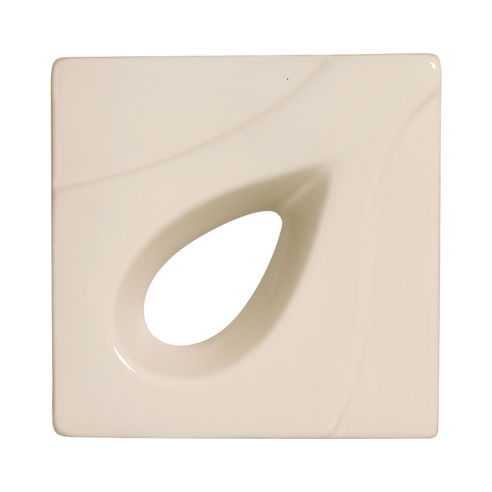 Cobogó de Cerâmica Nude Esmaltado Linha Gota 19,5x19,5x8 Cm