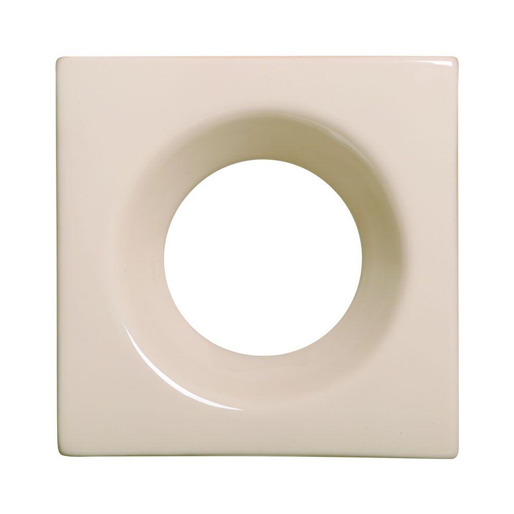 Cobogó de Cerâmica Nude Esmaltado Linha Rings  19,5x19,5x8 Cm