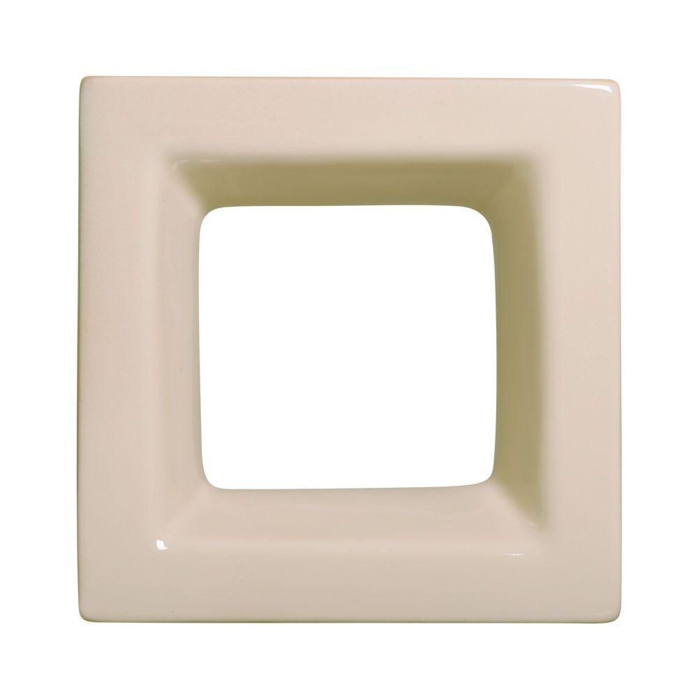 Cobogó de Cerâmica Nude Esmaltado Linha Square 20x20x8 Cm