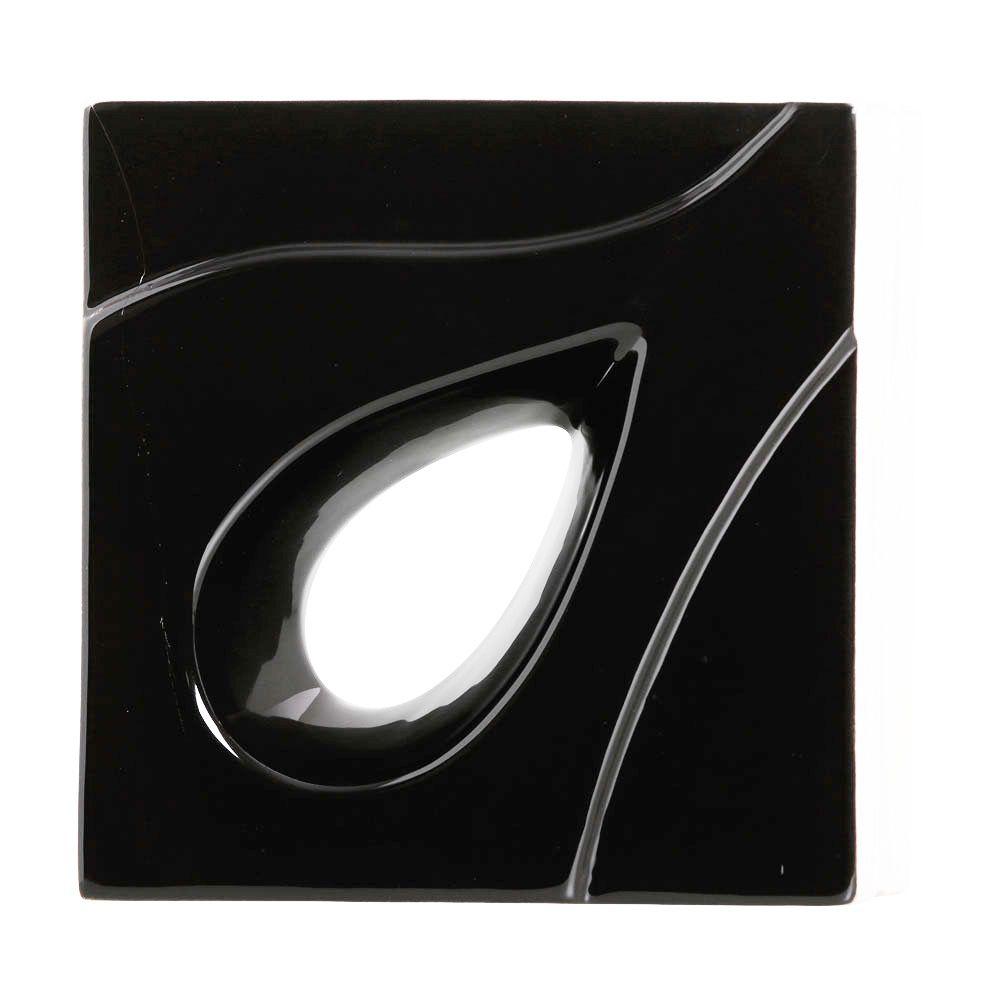 Cobogó de Cerâmica Preto Esmaltado Linha Gota 19,5x19,5x8 Cm