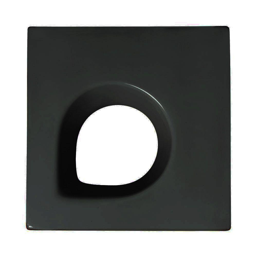 Cobogó de Cerâmica Preto Esmaltado Linha Trevo Aberto 20x20x8 Cm
