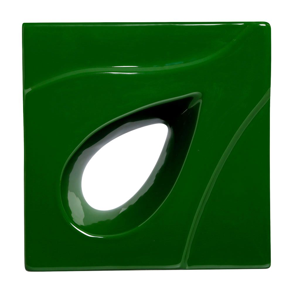 Cobogó de Cerâmica Verde Esmaltado Linha Gota 20x20x8 Cm
