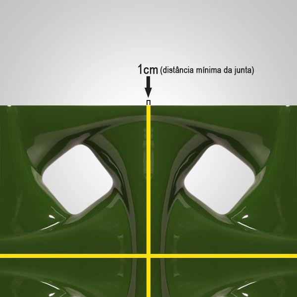 Cobogó de Cerâmica Verde Esmaltado Linha Twist 19,5x19,5x8 Cm