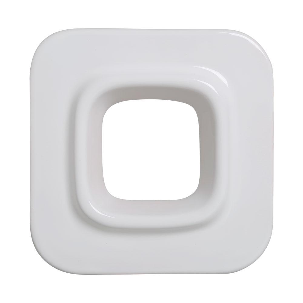 Cobogó Nova Bauhaus Quadrado Branco Em Cerâmica Esmaltada 19,5x19,5x6,5 Cm