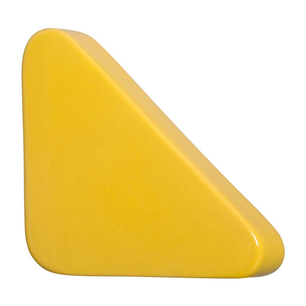 Cobogó Nova Bauhaus Triângulo Amarelo Em Cerâmica Esmaltada 19,5x19,5x6 Cm