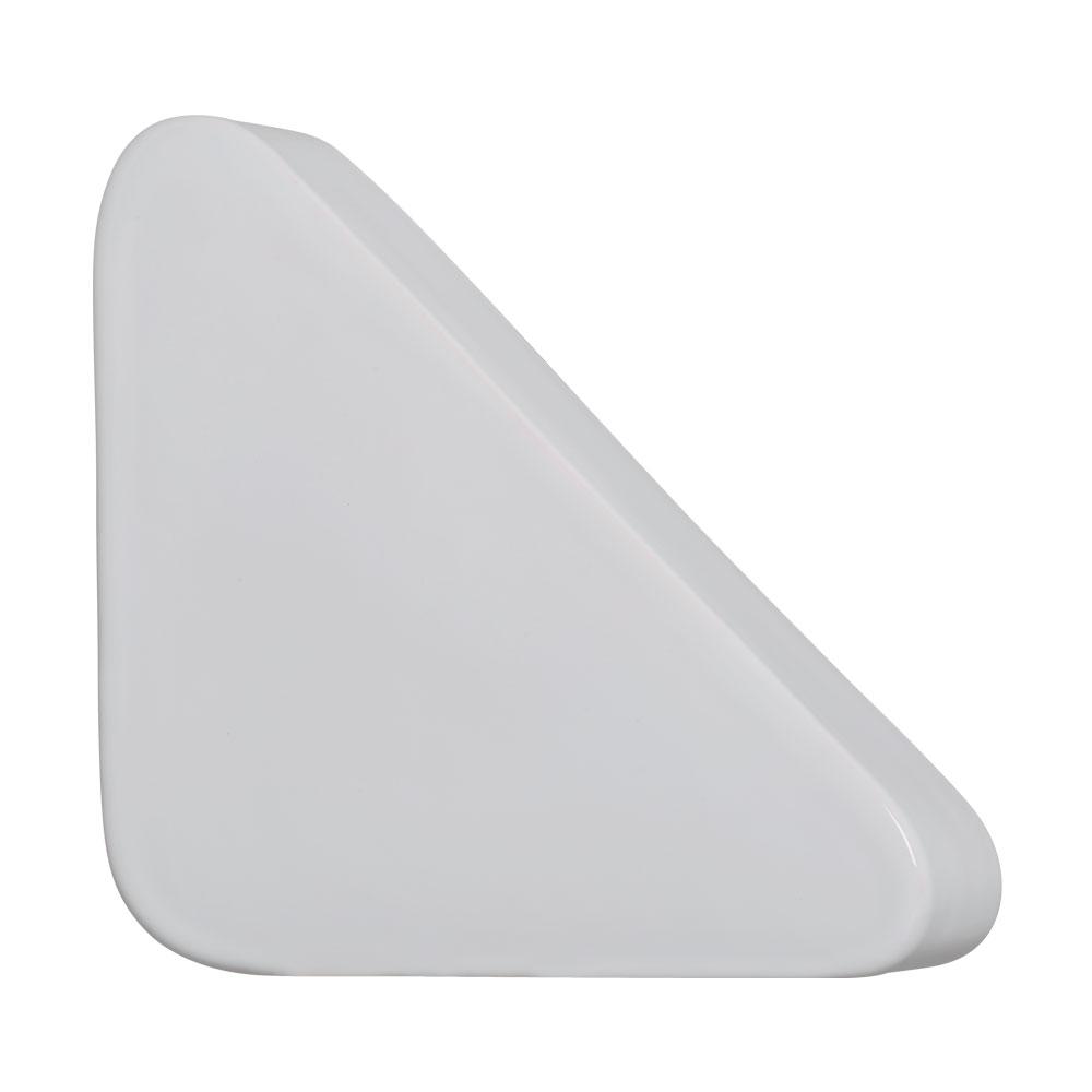 Cobogó Nova Bauhaus Triângulo Branco Em Cerâmica Esmaltada 19,5x19,5x6 Cm