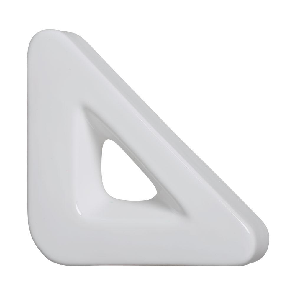 Cobogó Nova Bauhaus Triângulo V Branco Em Cerâmica Esmaltada 19,5x19,5x6 Cm