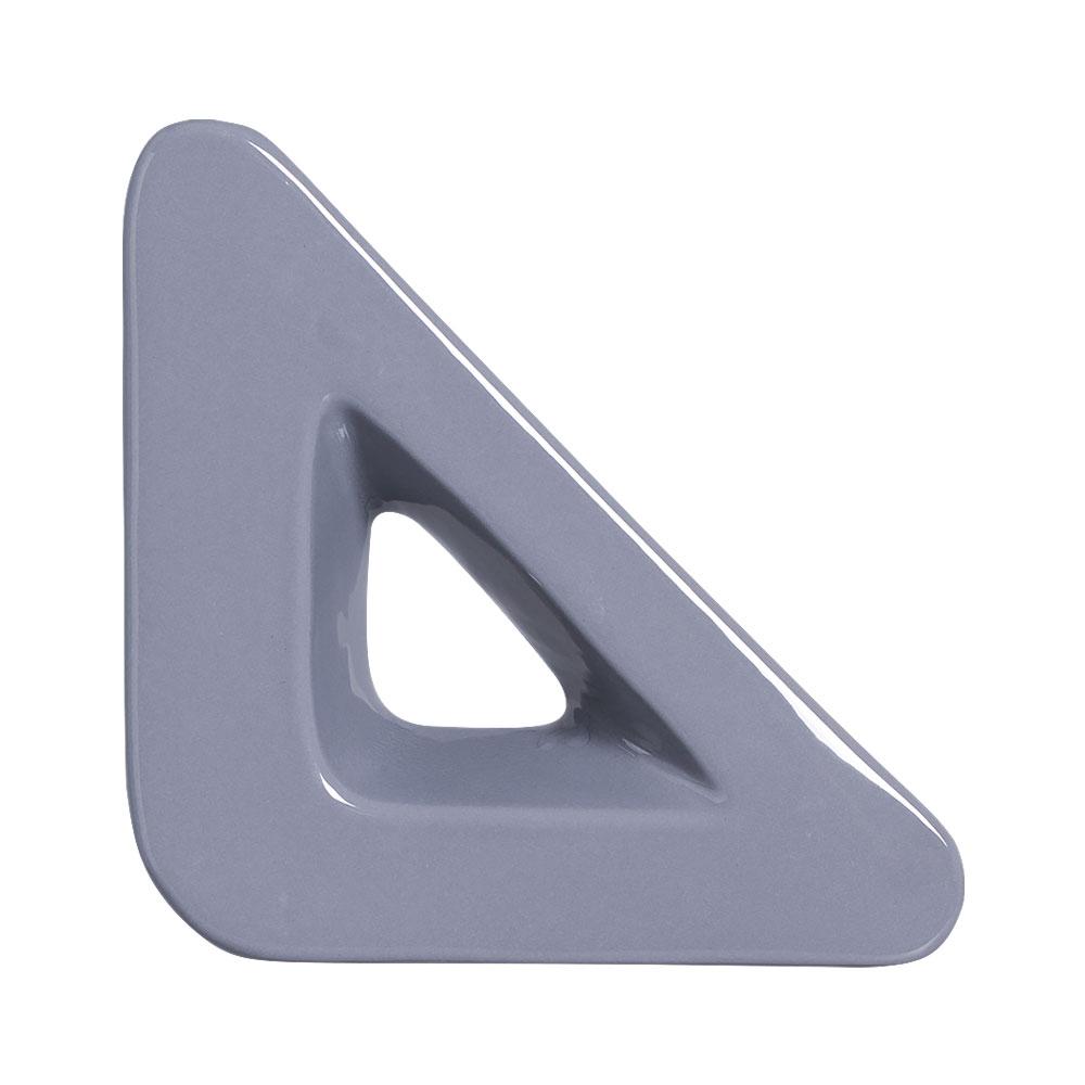 Cobogó Nova Bauhaus Triângulo V Cinza em Cerâmica Esmaltada 19,5x19,5x6 Cm