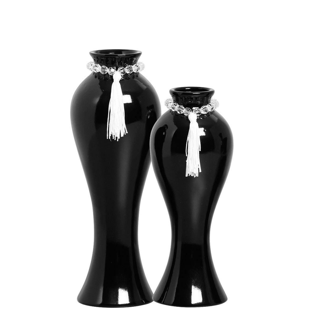 Dupla de Vasos Clássicos Da Linha Black tie P/ Decoração