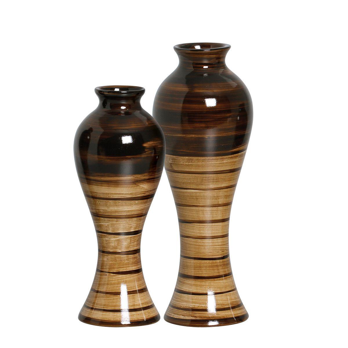 Dupla de Vasos Clássicos Da Linha Toscana P/ Decoração