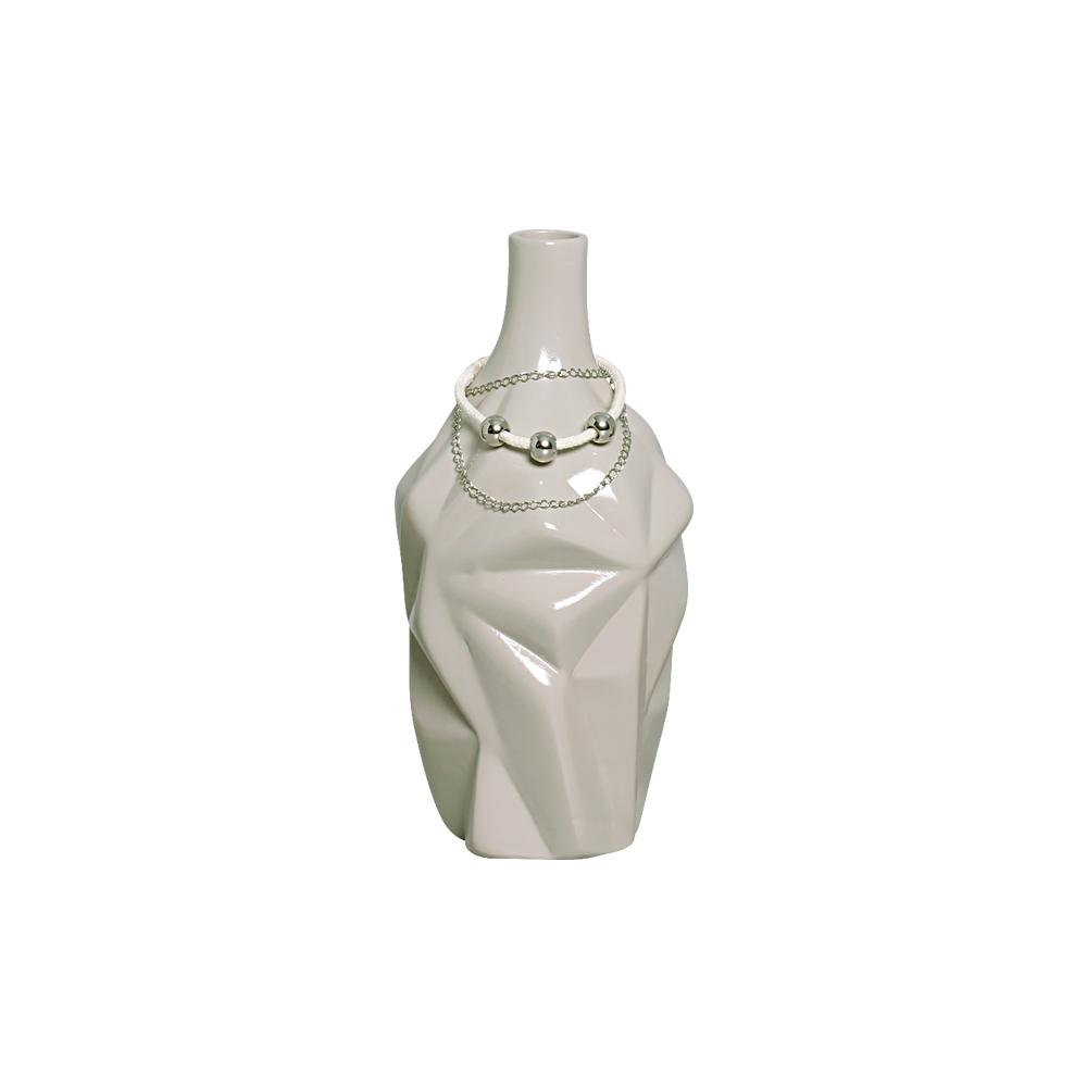 Dupla de Vasos Cor Cinza P/ Decoração Linha Fendi