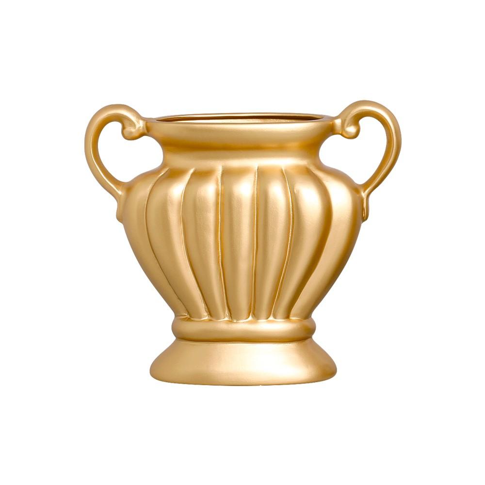 Floreira Em Cerâmica Linha Light Gold 25x29,5 cm