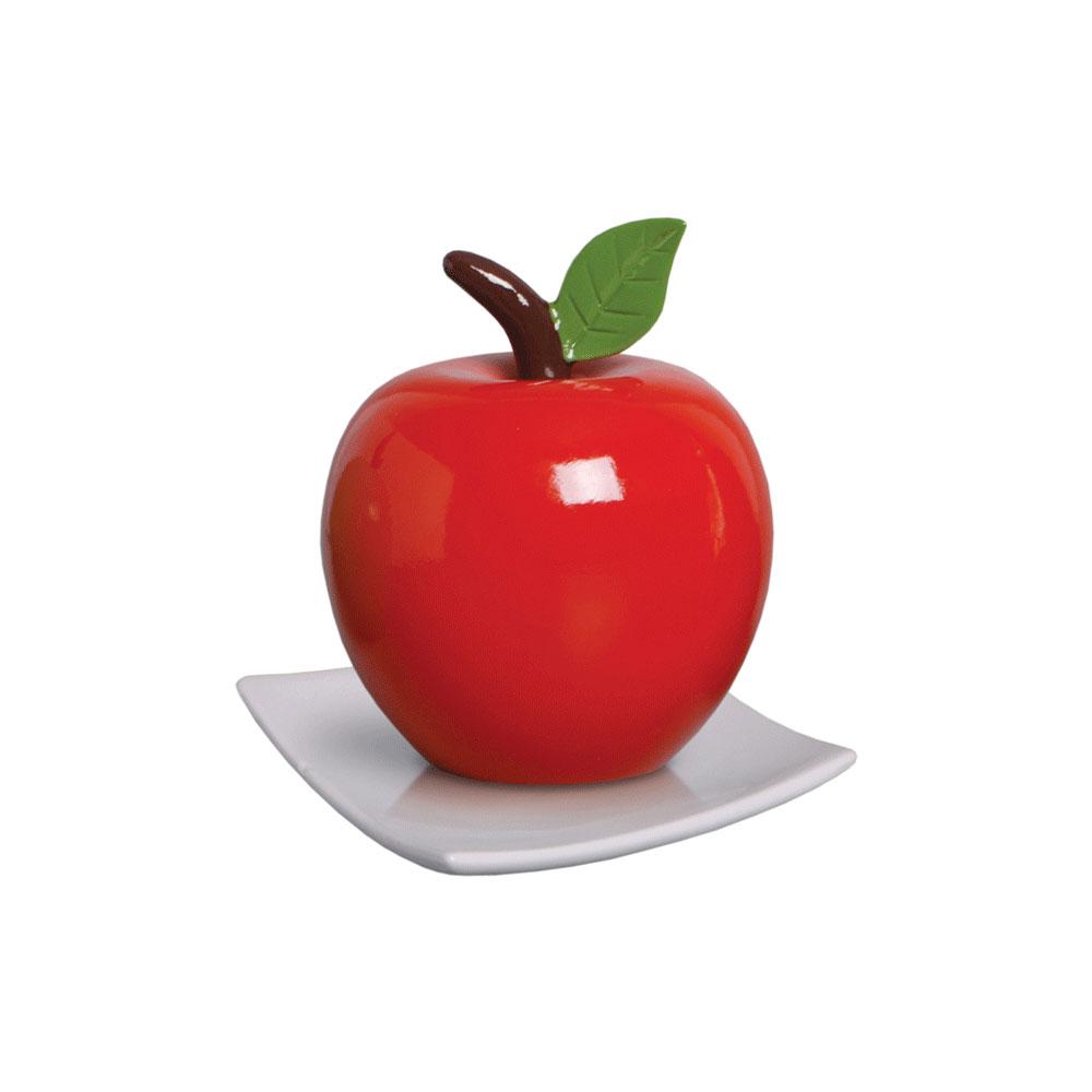 Maçã Decorativa para Cozinha Cor Vermelha