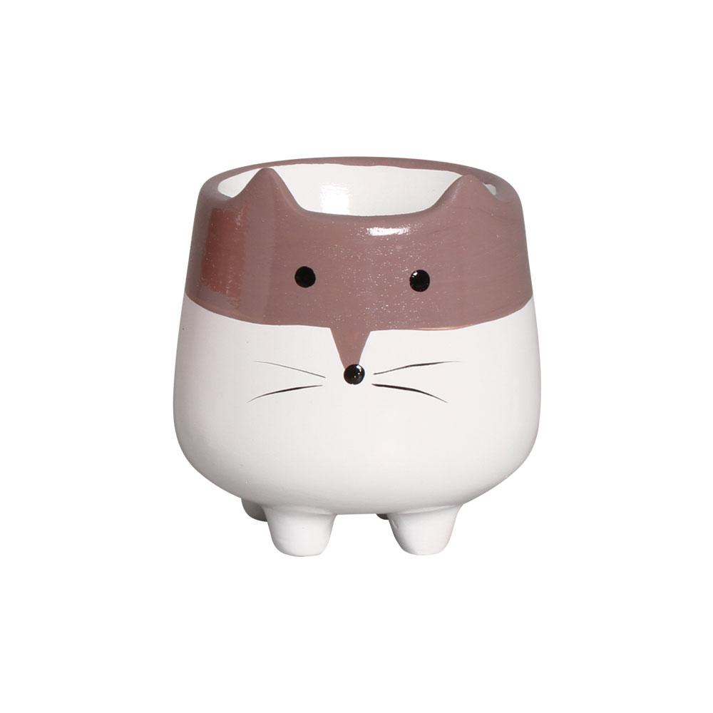 Mini Vasinho Bichinho Suculenta Cerâmica 8,7x8,1 cm