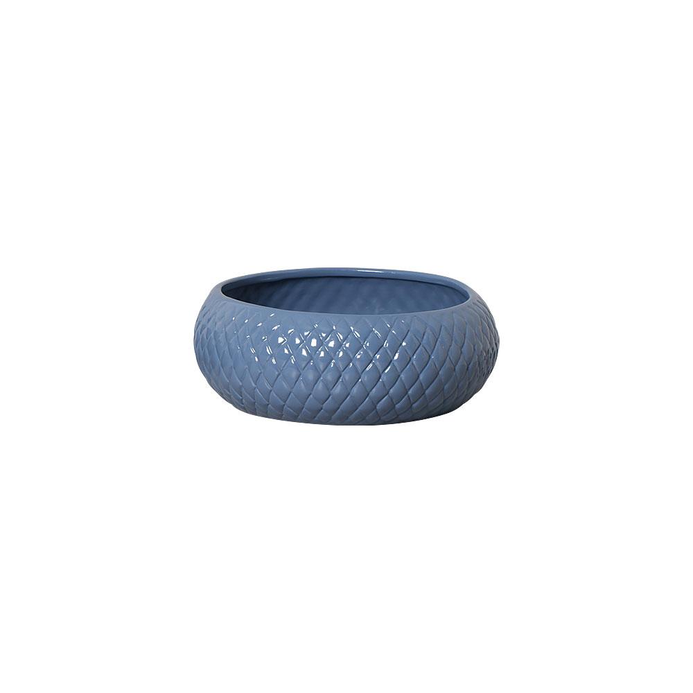 Vaso Botanicals Azul Em Cerâmica 11,3x30,2 cm
