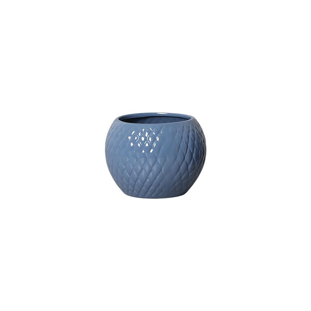 Vaso Botanicals Azul Em Cerâmica 14,3x19,3 cm