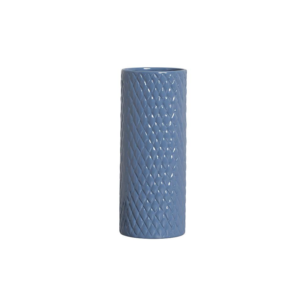 Vaso Botanicals Azul Em Cerâmica 32,7x12,7 cm