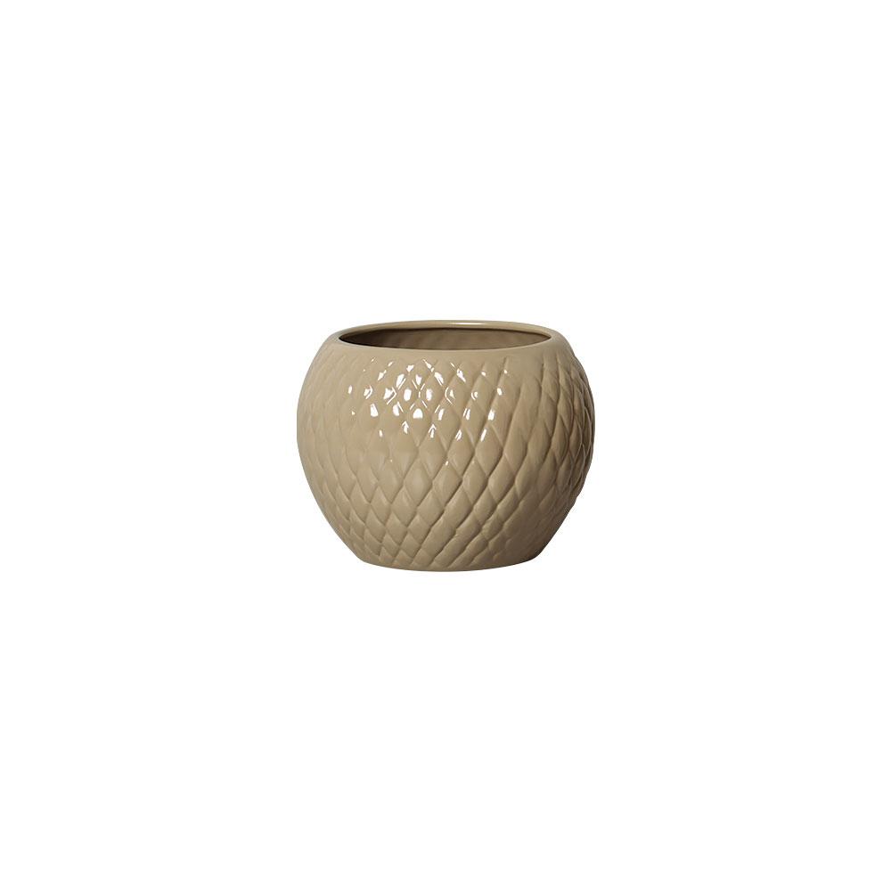 Vaso Botanicals Nude Em Cerâmica 14,3x19,3 cm