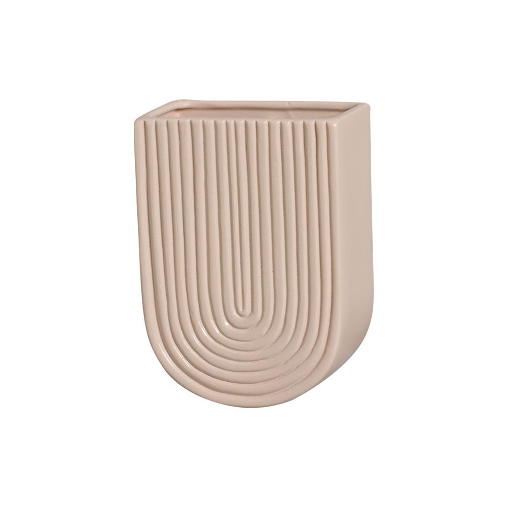 Vaso De Parede Em Cerâmica Nude 19,2x13,7