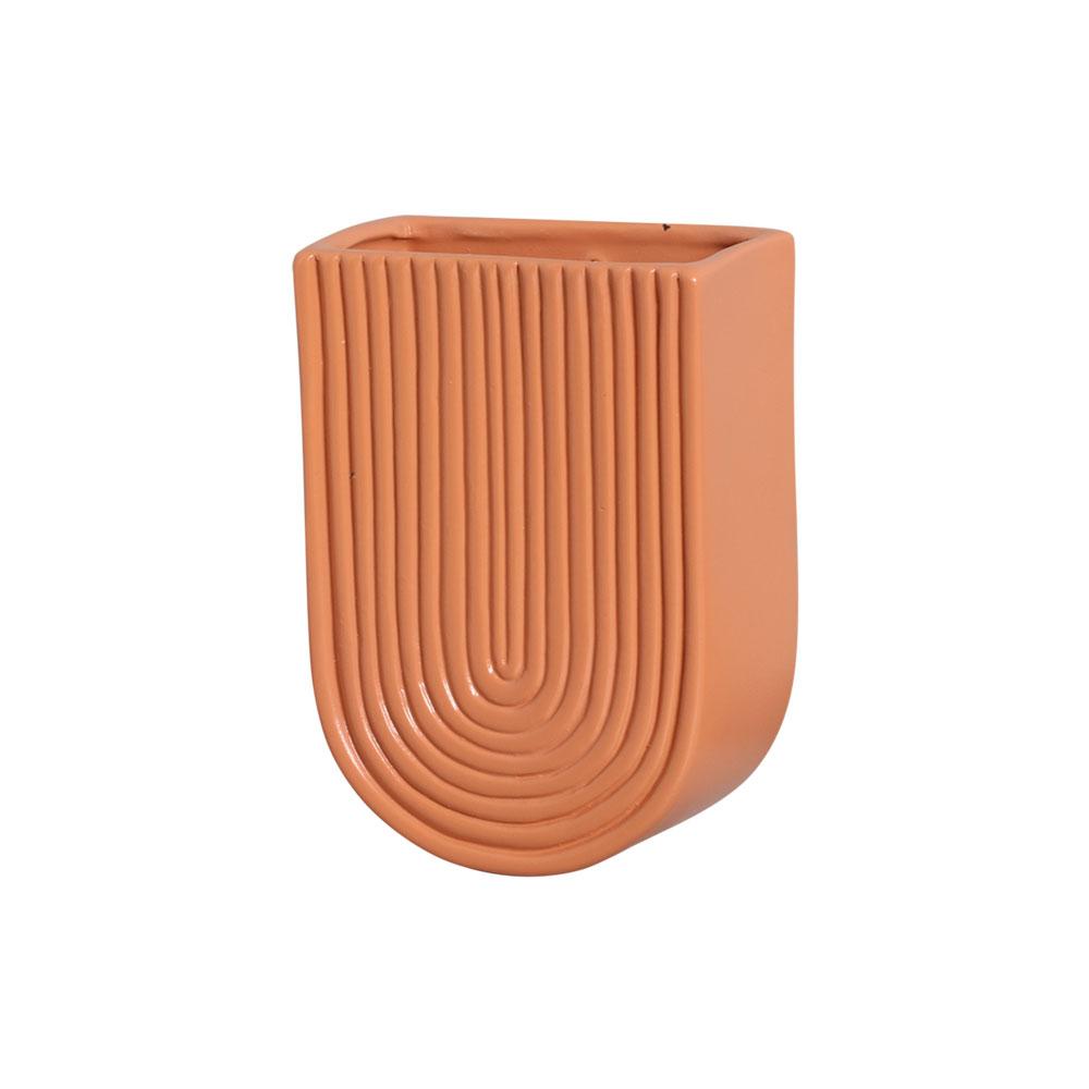 Vaso De Parede Em Cerâmica Terracota 19,2x13,7
