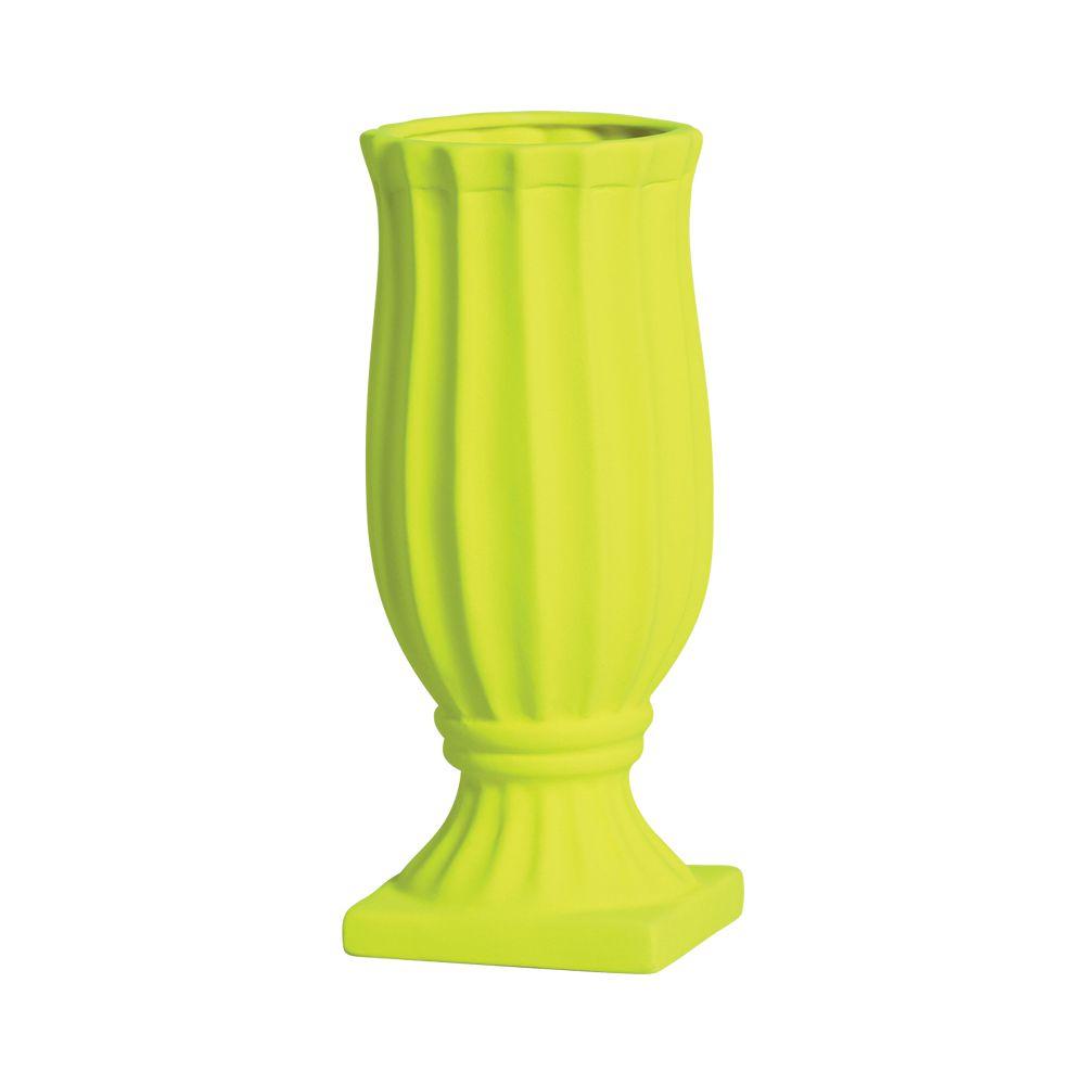 Vaso Exotic Linha Festa Cor Amarelo Neon 30 x 12,5 cm