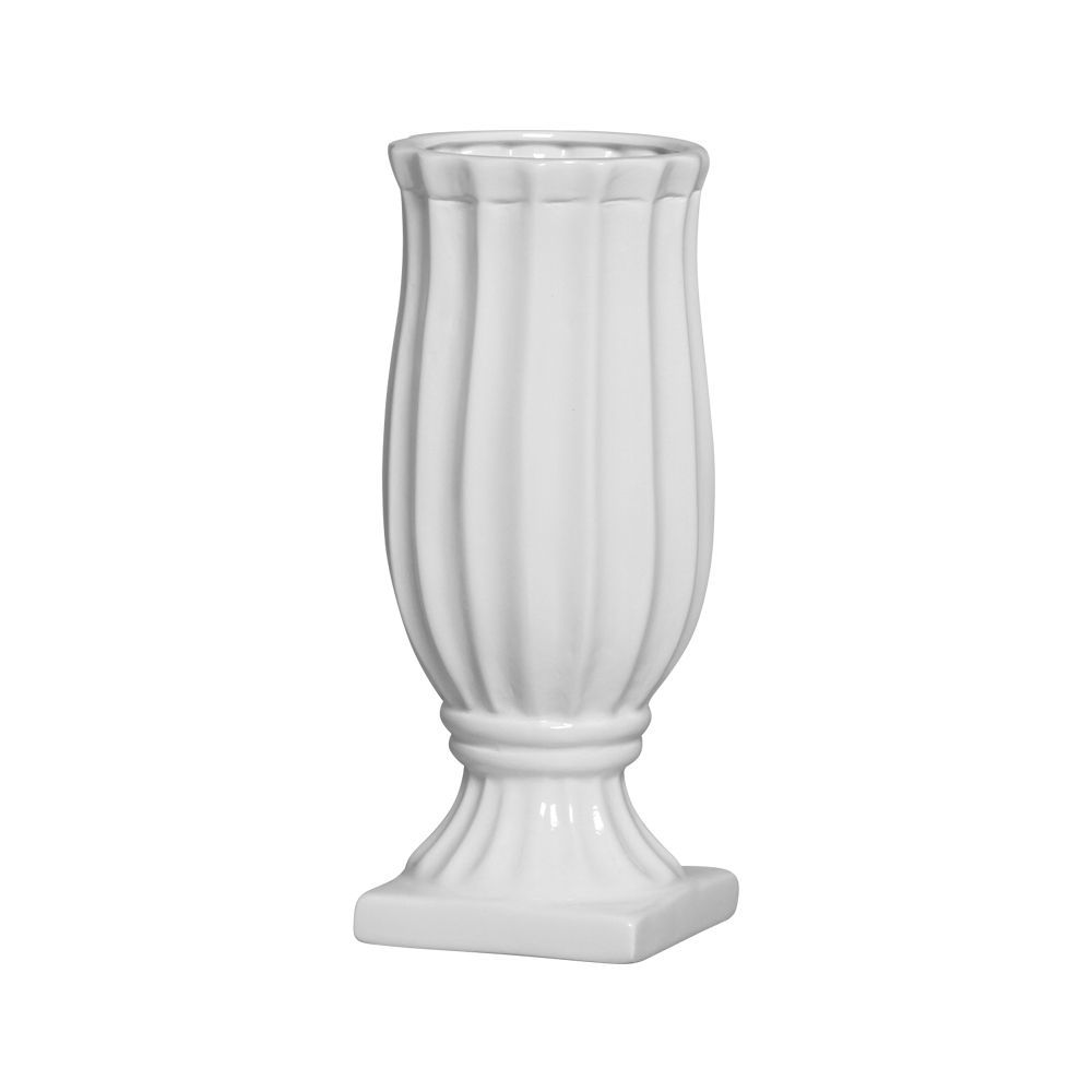 Vaso Exotic Linha Festa Cor Branco 30 x 12,5 cm