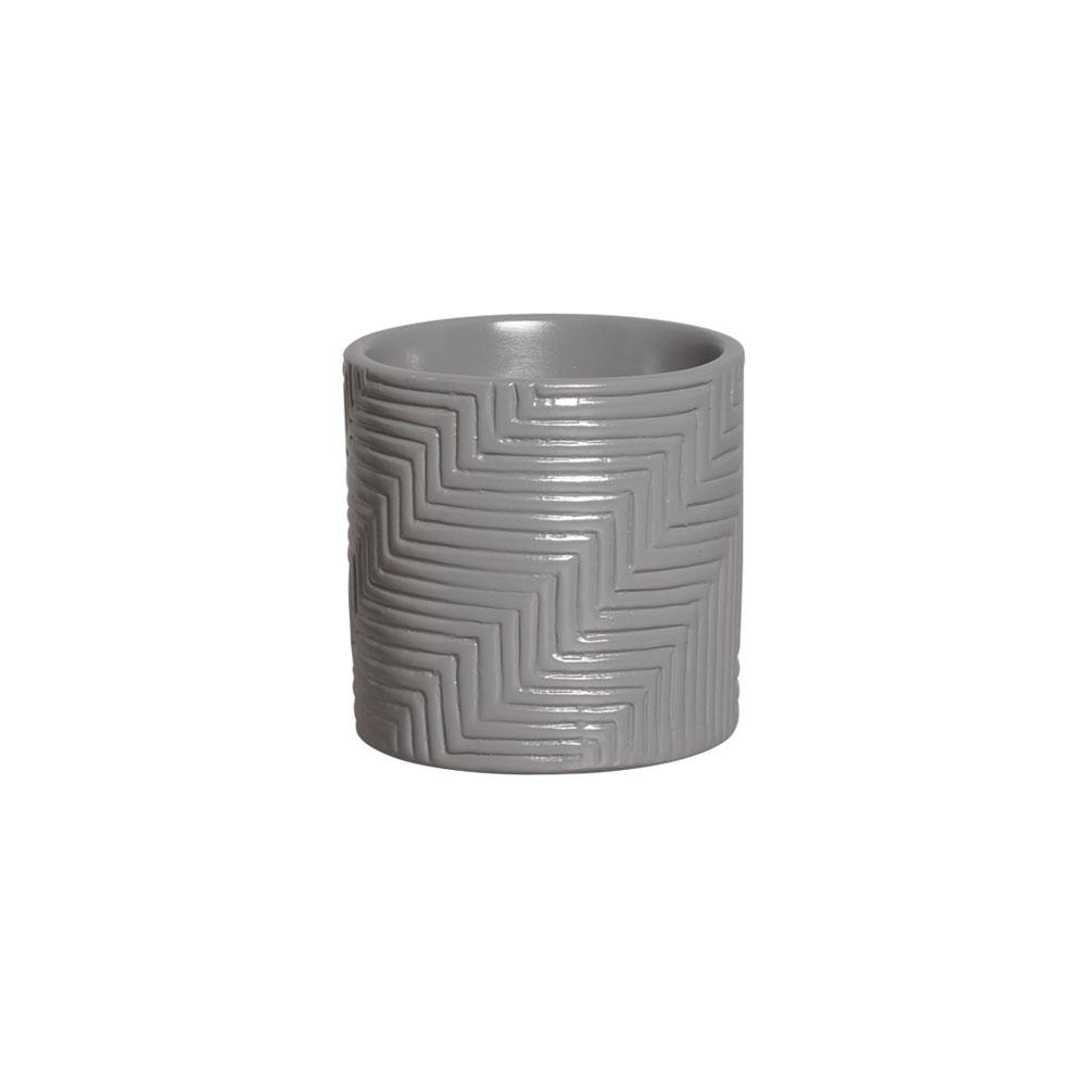 Vaso Moderno Cerâmica Cinza 14,7x14,6 cm