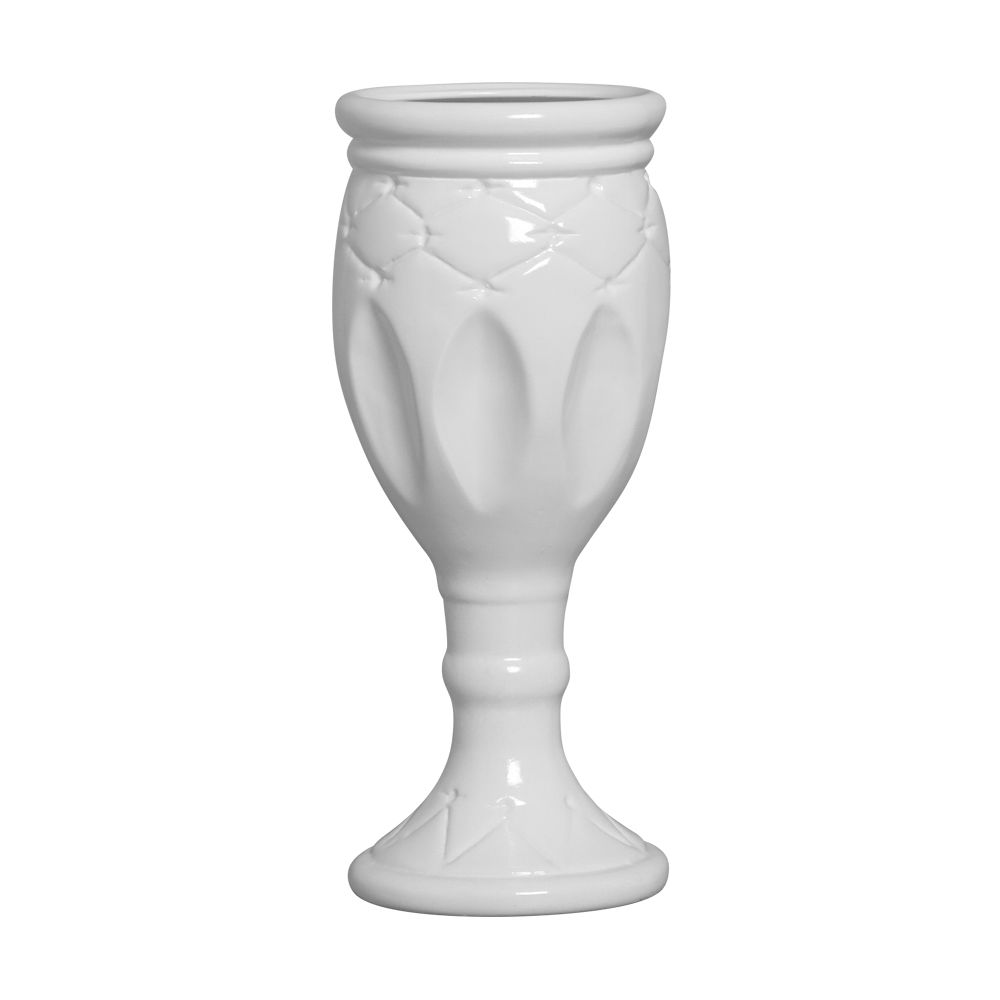 Vaso Taça Linha Festa Cor Branco 38,5 x 16 cm