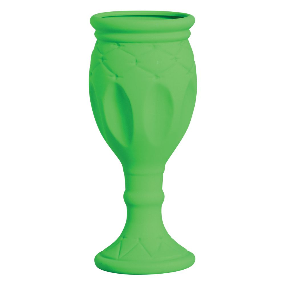 Vaso Taça Linha Festa Cor Verde Neon 38,5 x 16 cm