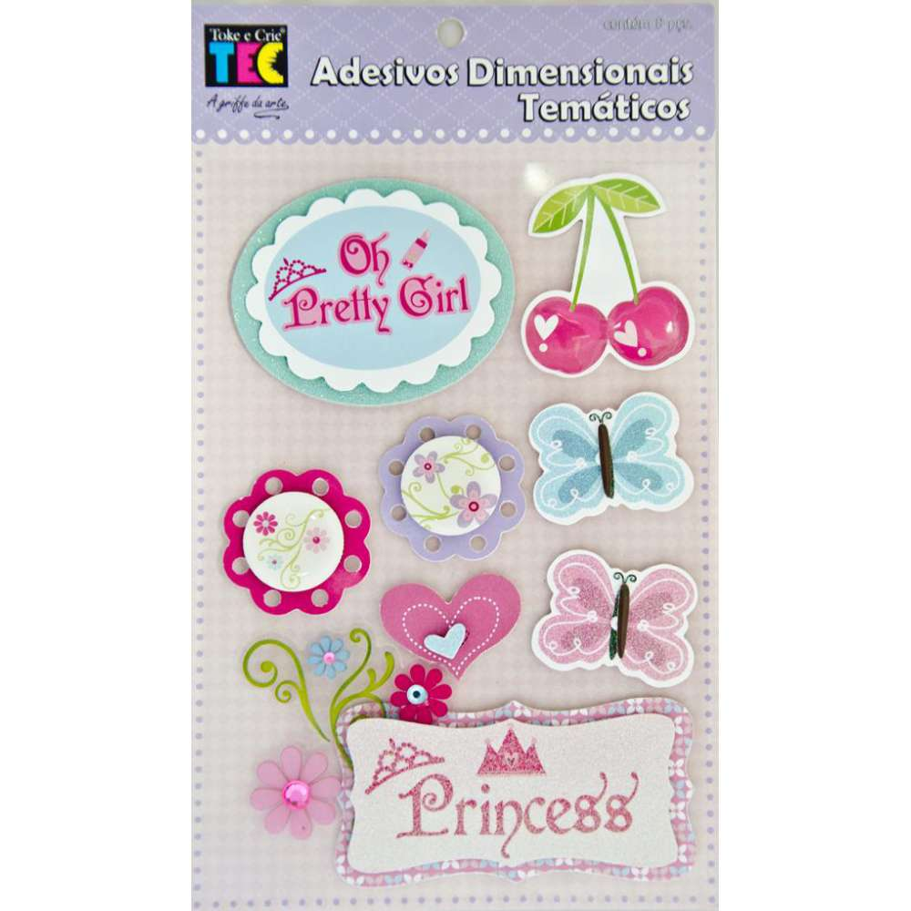 Adesivo Dimensional Tematico Princesa